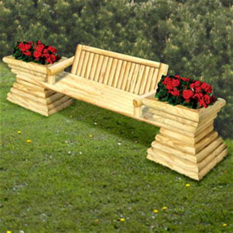 landscape timber bench yard projects doug s woodcrafts patterns