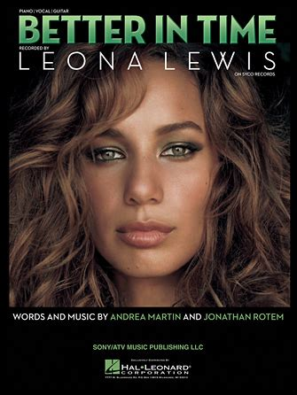 better in time leona lewis lyrics better in time sheet direct
