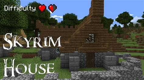 skyrim how to build a house minecraft how to build a skyrim style house youtube