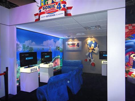 sonic the hedgehog bedroom inside sega s e3 booth sonic free riders not playable