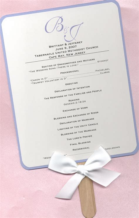 wedding programs fans templates design aholic wedding program fans