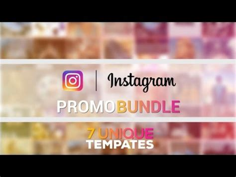 Instagram Promo Bundle Videohive After Effects Template Youtube Instagram Promo Template