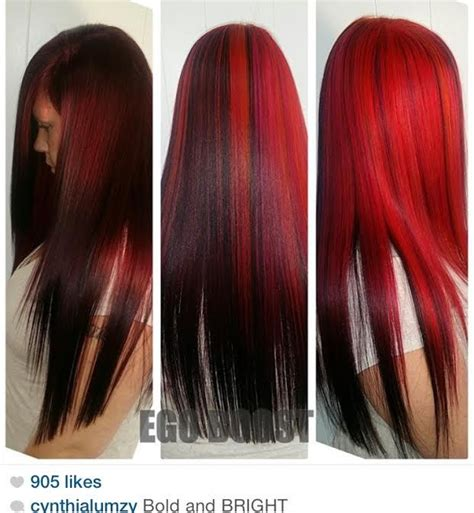 hair styles for black hair two toned half brown and half red hair www pixshark com images