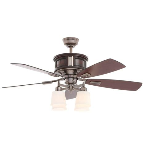 hton bay garrison 52 in indoor gunmetal ceiling fan