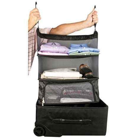 packing and luggage shelves with zippered compartment