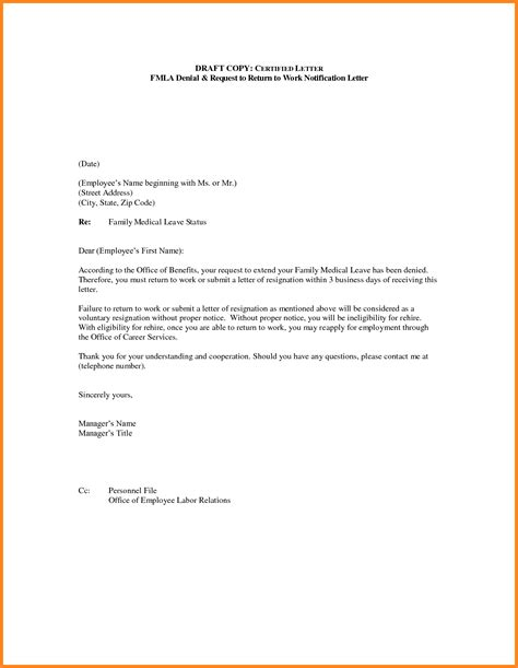 return to work letter after maternity leave template return work letter template letter template 2017