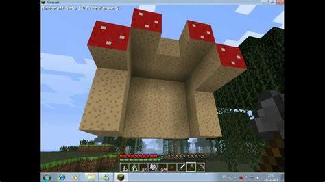 """Minecraft - Como fazer um cogumelo gigante ou """"árvore de"""