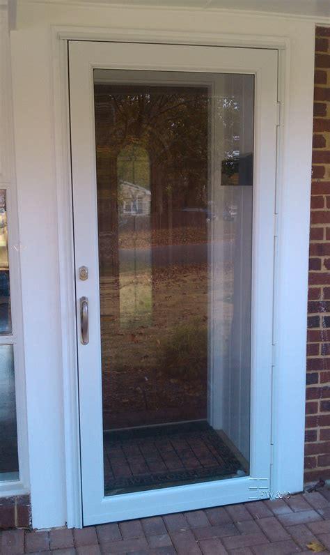 Hurricane Exterior Doors Lows Doors Larson High View Wood Door With Pet Door Common 32 Sc 1 St Loweu0027s