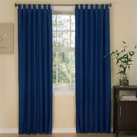 tabbed curtains american denim tab top curtains