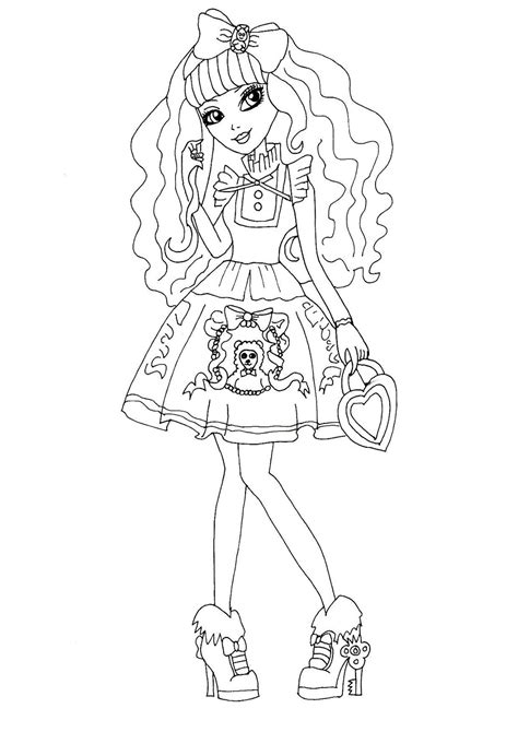 ever after high darling charming coloring pages free printable ever after high coloring pages blondie