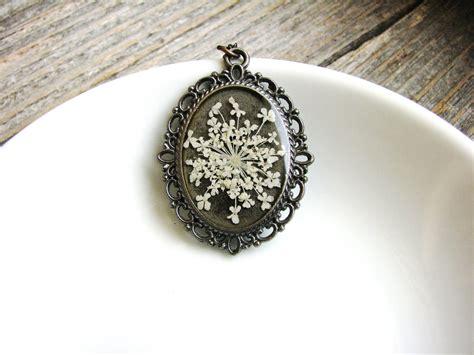 Lace Necklace s lace necklace pressed flower necklace