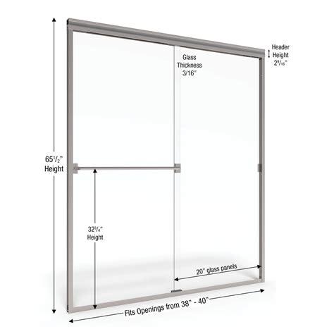 basco shower doors reviews basco classic 65 5 quot x 40 quot frameless bypass sliding shower