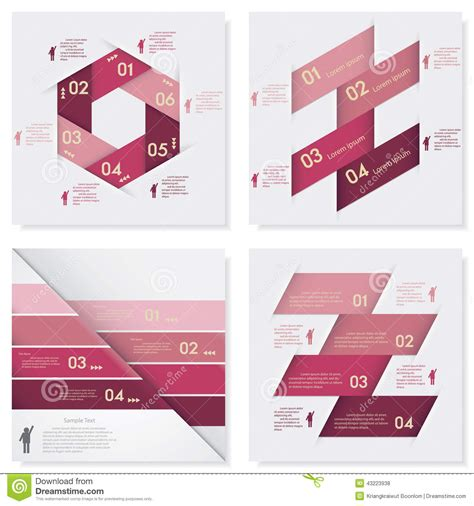 clean graphic design layout collection of design clean number banners template stock