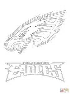 philadelphia eagles logo coloring page supercoloring com