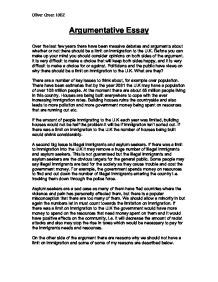Argumentative Essay Sles For Teachers by Argumentative Essay By Oliver Green Gcse Marked By Teachers