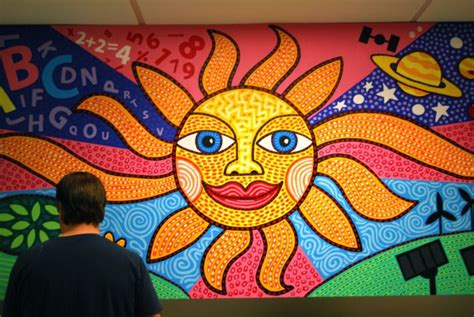 painting a mural on a wall 7 wall mural painting sun image