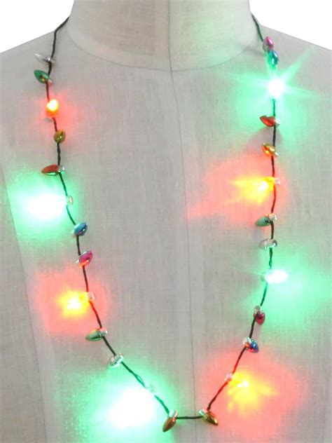 christmas light necklace battery operated ideas