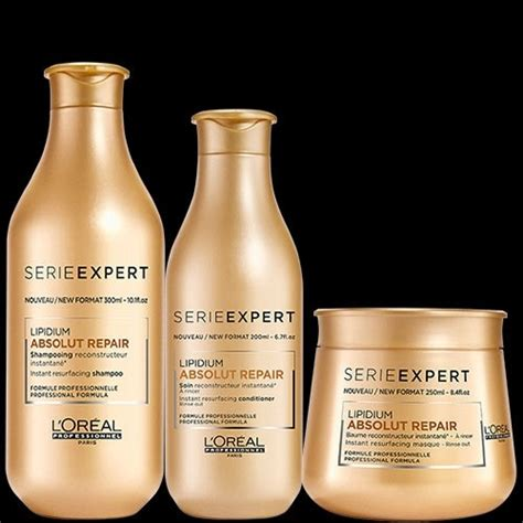 Loreal Professionnel Absolut Repair l or 233 al professionnel serie expert lipidium absolut repair shoo 300ml conditioner 200ml and