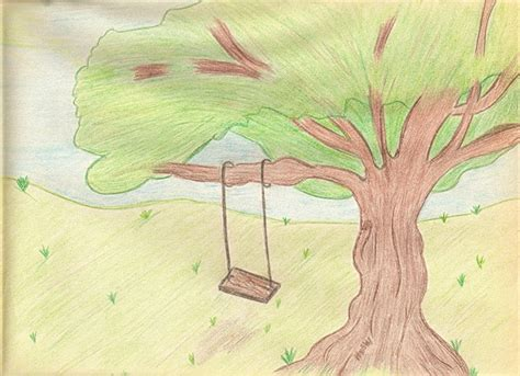 tree with swing drawing tree swing drawing as i like to draw trees drawings