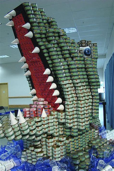 canned food sculpture ideas canstruction best canstruction sculptures canned food