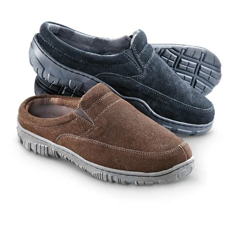 cozy comfort shoes men s guide gear fleece lined slide mocs 307453