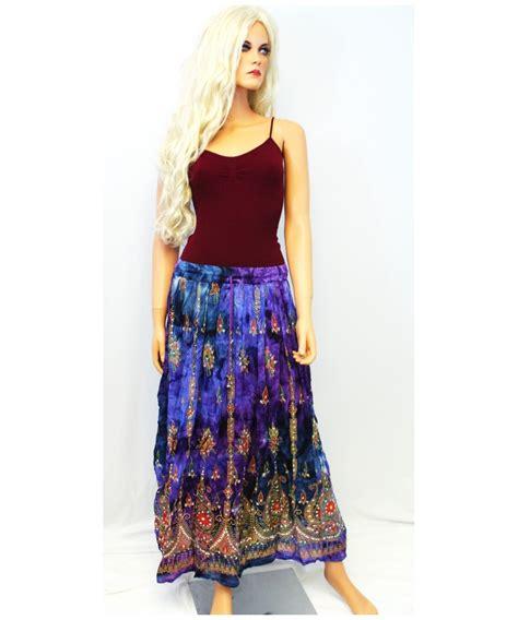 tie dye hippie bohemian peasant skirt bohemian