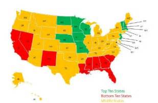 educational maps of the united states state rankings