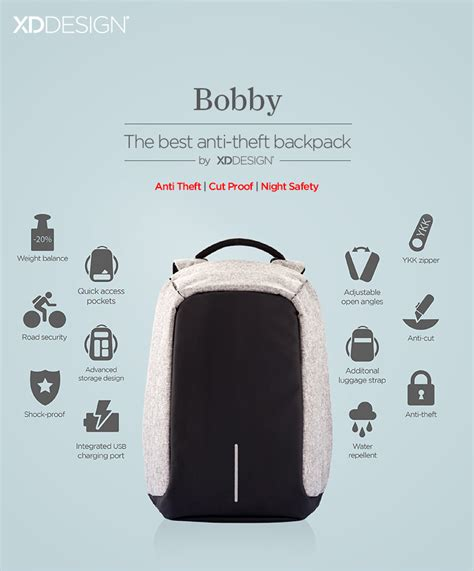 Tas Anti Maling Backpack Anti Thief Bobby Xd Design Grade A bobby the best anti theft backpack