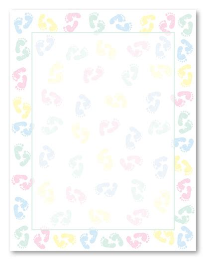 printable baby stationery baby feet stationery letterhead baby shower stationery 8731