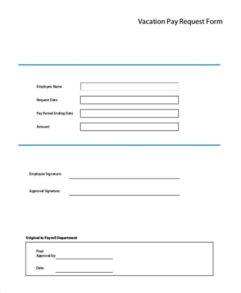 vacation leave request form template sle vacation request form 11 free documents in doc pdf