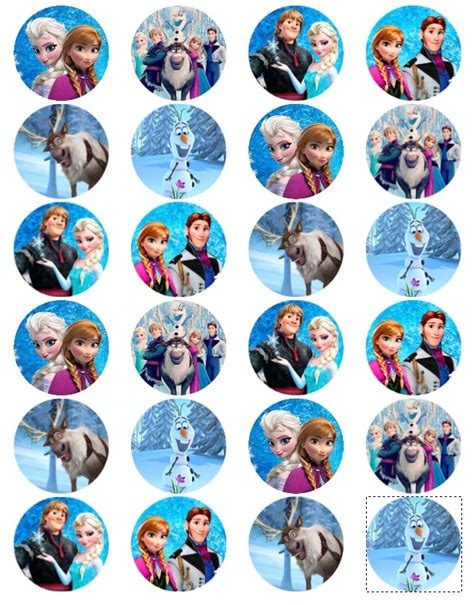 printable frozen toppers frozen edible cake toppers personalize lorna