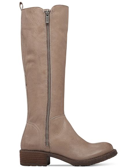 lucky brand womens desdie boots in gray lyst