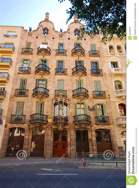 Spanish House Plans Casa Calvet Stock Image Image Of Barcelona Facades