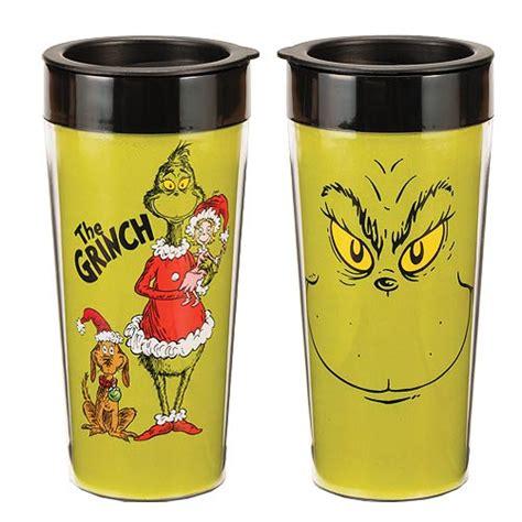 Dr. Seuss The Grinch Who Stole Christmas Travel Coffee Mug Xmas New   eBay