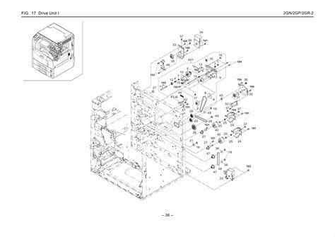 Kyocera Copier Km 3050 4050 5050 Parts Manual