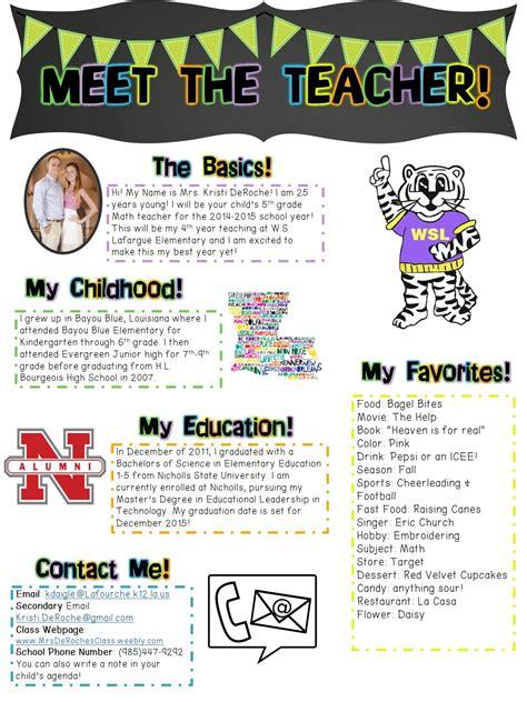 Meet The Teacher Newsletter Editable Classroom Ideas Pinterest Open House Teacher And Met Math Newsletter Template