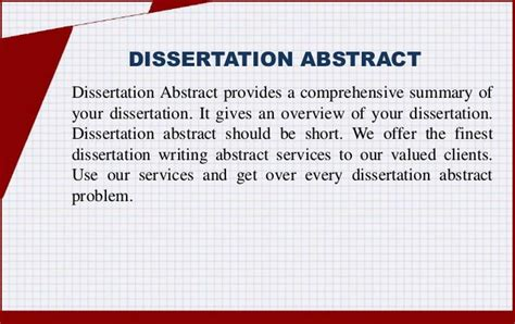 abstract of a dissertation exles dissertation abstract introduction and process