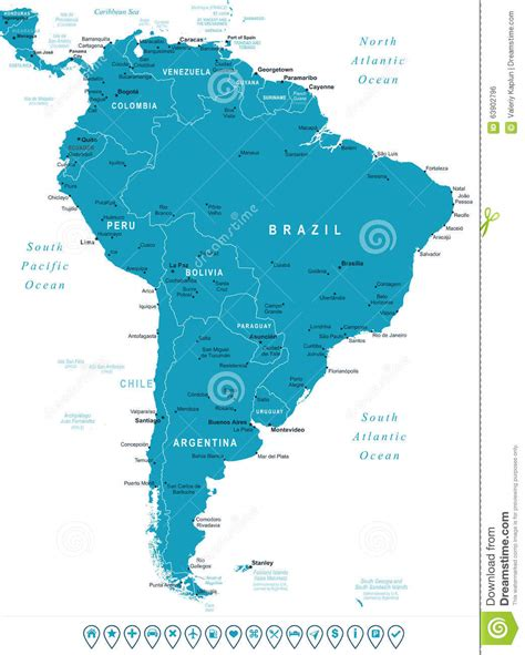 america map with labels south america map with labels america map