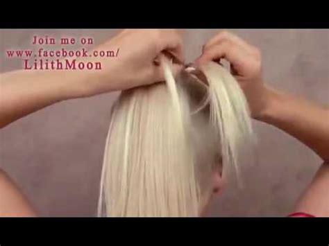 cara cepol rambut pendek ala korea cara mengepang rambut ala korea youtube