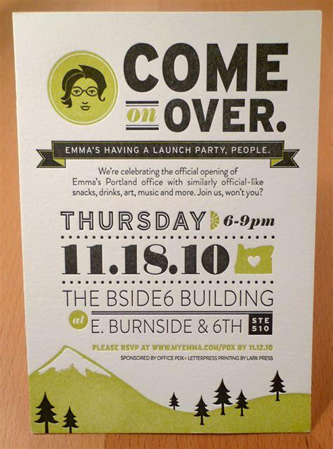 open house invitations emma inc portland open house on behance