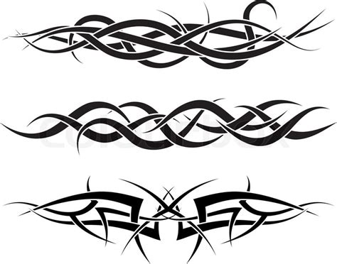tribal line pattern patterns of tribal tattoo for design use stock vector