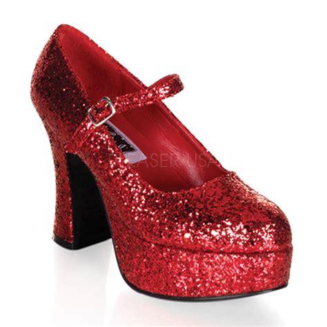 glitter shoes size 13 4 quot glitter dorothy wizard of oz crossdresser costume