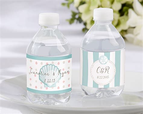 Wedding Favors Water Bottles by Personalized Water Bottle Labels Tides My