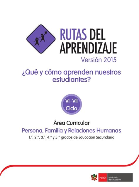 rutas del aprendizaje de persona familia relaciones humanas sesion de aprendizaje pfrh de 3 newhairstylesformen2014 com