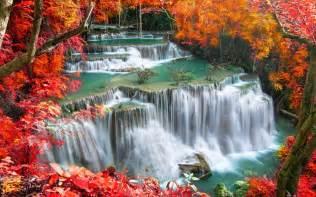 kamin thailand huai mae kamin waterfall hd wallpaper and background