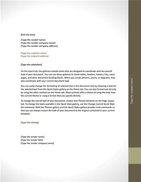 layout of formal letter with exle business letter adjacency design office templates