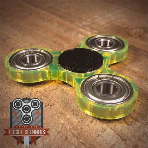 Fidget Edc Spinner acrylic edc spinner tri bar fidget with caps ebay