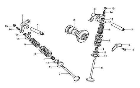 Valve Inlet Klep 14711 Kbb 900 moto th honda phantom 200 parts camshaft valve