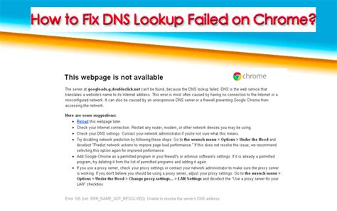 What Is A Dns Lookup How To Fix Dns Lookup Failed On Chrome Ashik Tricks