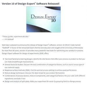 Design Expert Software Version 10 | design expert 174 software version 10 fakultas farmasi